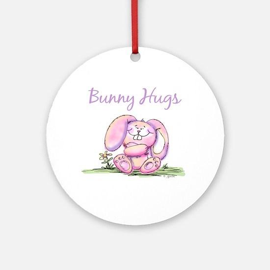 Bunny Hugs Ornament (Round)