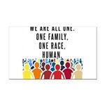 We Are All One Rectangle Car Magnet