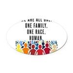 We Are All One Oval Car Magnet