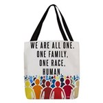 We Are All One Polyester Tote Bag