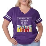 We Are All One Women's Plus Size Football T-Shirt