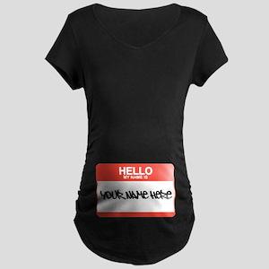 HELLO Maternity Dark T-Shirt