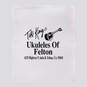 Ukuleles Of Felton Throw Blanket