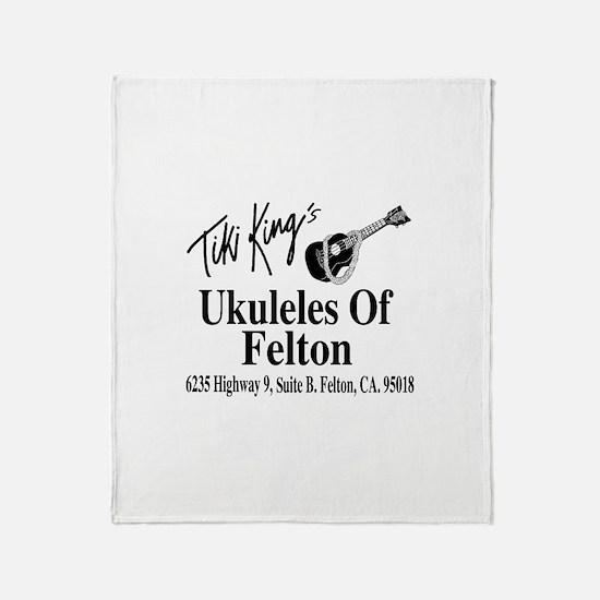 Ukuleles Of Felton Throw Blanket