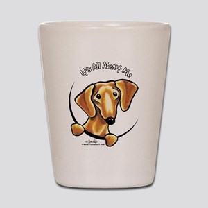Red Dachshund IAAM Shot Glass