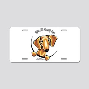 Red Dachshund IAAM Aluminum License Plate