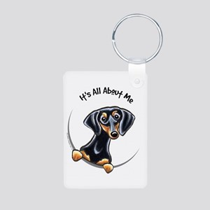Black Tan Dachshund Lover Aluminum Photo Keychain