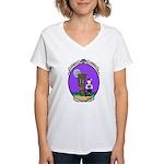 Goth Hula Girl Women's V-Neck T-Shirt