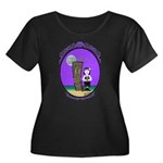Goth Hula Girl Women's Plus Size Scoop Neck Dark T
