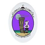 Goth Hula Girl Ornament (Oval)