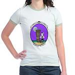 Goth Hula Girl Jr. Ringer T-Shirt
