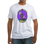 Goth Hula Girl Fitted T-Shirt