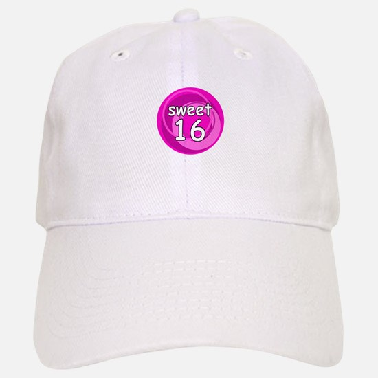 Pink Sweet 16 Baseball Baseball Cap