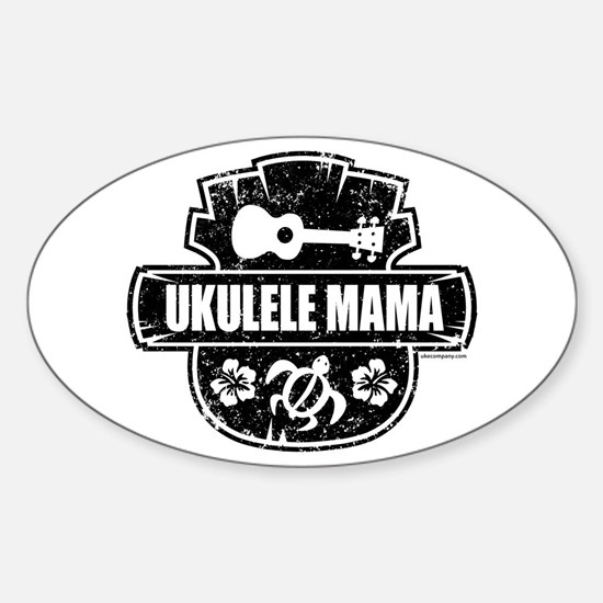 Ukulele Mama Sticker (Oval)