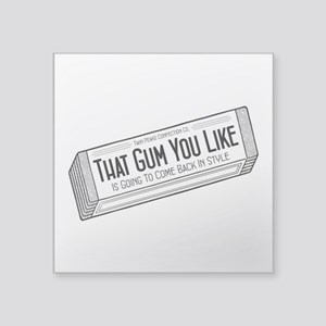 """Twin Peaks Chewing Gum Square Sticker 3"""" x 3"""""""
