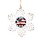 USCJO Logo Rustic Snowflake Ornament