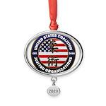 USCJO Logo Oval Year Ornament
