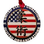 USCJO Logo Maple Round Ornament