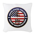 USCJO Logo Woven Throw Pillow