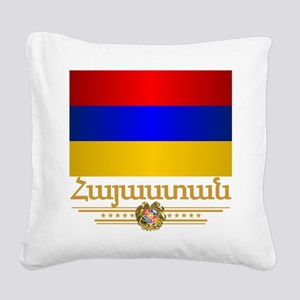 Armenian Pride Square Canvas Pillow