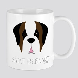 Saint Bernard Cartoon Face Mug