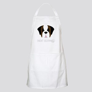 Saint Bernard Cartoon Face Apron