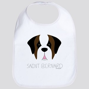 Saint Bernard Cartoon Face Bib