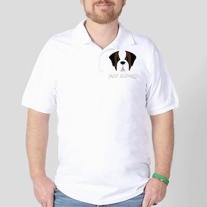Saint Bernard Cartoon Face Golf Shirt