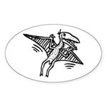 Pterodactyl Sticker (Oval)