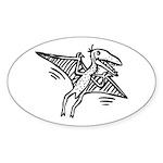 Pterodactyl Sticker (Oval 10 pk)