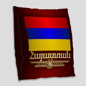 Armenian Pride Burlap Throw Pillow