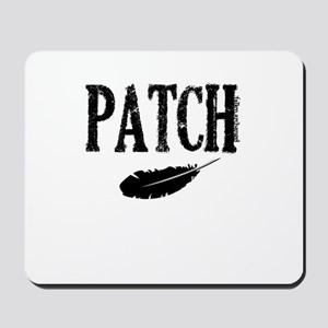 Patch and a feather Mousepad