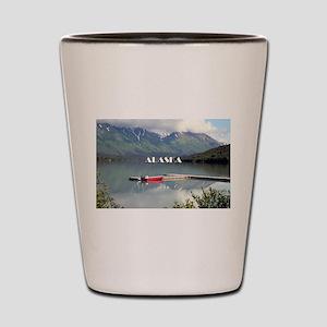 Alaska: Boat on Trail Lake, Moose Pass Shot Glass