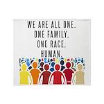 We Are All One. Plush Fleece Throw Blanket