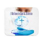 I Believe In God & Science Sherpa Fleece Throw Bla