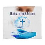 I Believe In God & Science Arctic Fleece Throw Bla