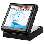 I Believe In God & Science Keepsake Box