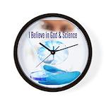 I Believe In God & Science Wall Clock