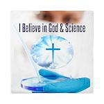 I Believe In God & Science Queen Duvet