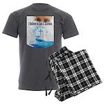 I Believe In God & Science Men's Charcoal Pajamas
