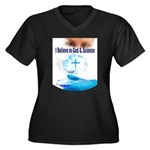 I Believe In God & Science Plus Size T-Shirt
