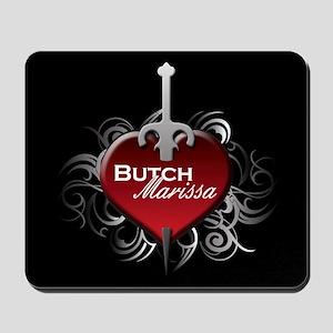 Tribal Heart Mousepad - Butch and Marissa