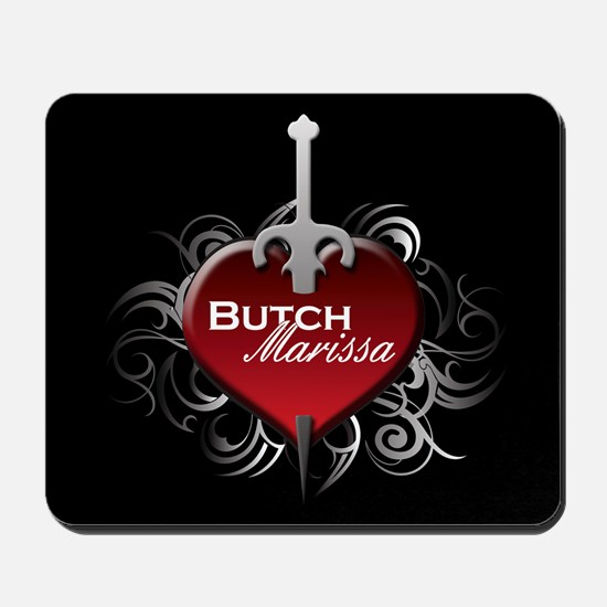 Tribal Heart Mousepad - Butch and Marissa