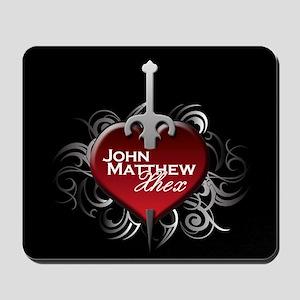 Tribal Heart Mousepad - John Matthew and Xhex