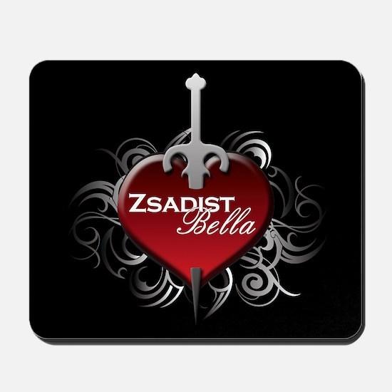 Tribal Heart Mousepad - Zsadist and Bella