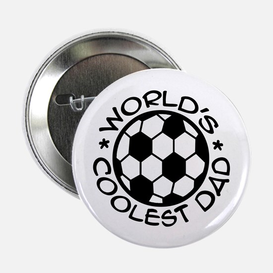 "World's Coolest Soccer Dad 2.25"" Button"