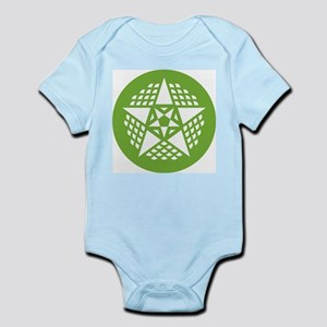 Infant creeper with crop circle
