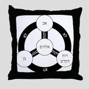 Hebrew Trinity Throw Pillow