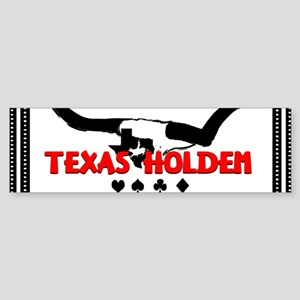 Texas Longhorns Holdem Bumper Sticker