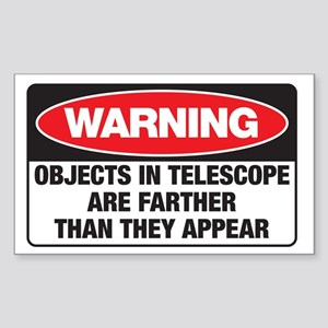 Astro-Warning Rectangle Sticker